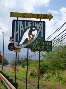 Hale'iwa, the biggest town on the North Shore and yet it's still tiny!