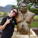 Israel Kamakawiwo'ole statue, Waianae, West Coast, Oahu, Hawaii