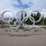 Olympic rings from the 2010 Vancouver Winter Olympics