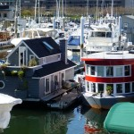 A houseboat in coal harbour Vancouver